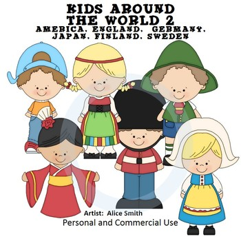 Kids Around the World Set 2 Color Clip Art A. Smith Englan