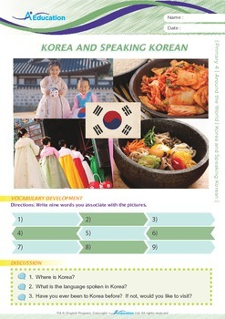 Around the World - Korea and Speaking Korean - Grade 4