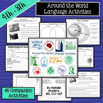 Around the World Language Activities: Upper Elementary & Middle School