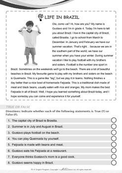 Around the World - Life in Brazil - Grade 3