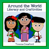 Around the World Literacy and Craftivities Distance Learning