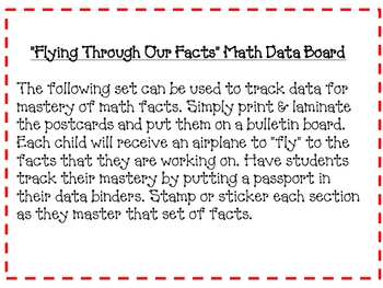 Around the World Math Fact Data Board