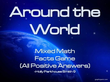 Around the World Math Fact Practice Game