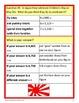 Around the World Math Goofy Glyph (4th grade Common Core)