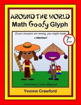 Around the World Math Goofy Glyph (7th Grade Common Core)
