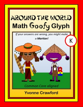 Around the World Math Goofy Glyph (Kindergarten Common Core)
