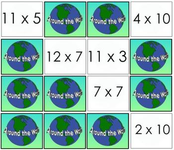 Around the World: Multiplication Facts Practice