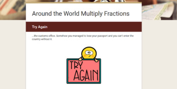 Choose Your Own Adventure Multiply Fractions Bundle