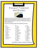 """Around the World"" Passport Template and Stamps"