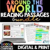 Around the World Reading Comprehension Passages BUNDLE Mus
