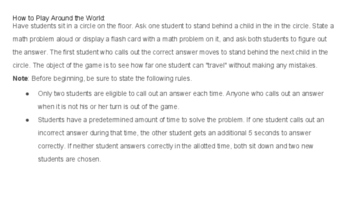 Around the World Rounding Game (TEKS 3.5A/B & CCSS 4.NBT.A2/3)