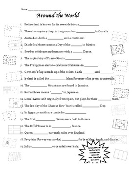 Around the World Scavenger Hunt