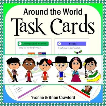 Around the World Task Cards