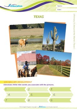 Around the World - Texas - Grade 3