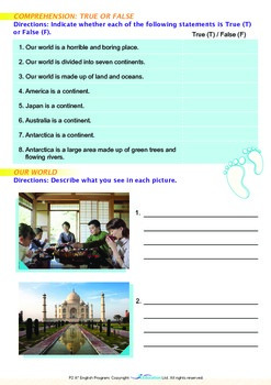 Around the World - The Seven Continents - Grade 2