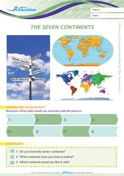 Around the World - The Seven Continents - Grade 4