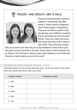 Around the World - Tracey and Krista Are E-Pals - Grade 3