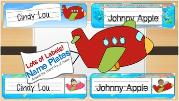 Around the World Travel Classroom Name Plates Back to School
