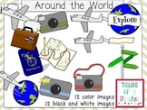 Around the World: Travel Clipart