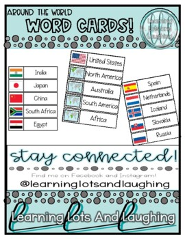 Around the World Word Cards