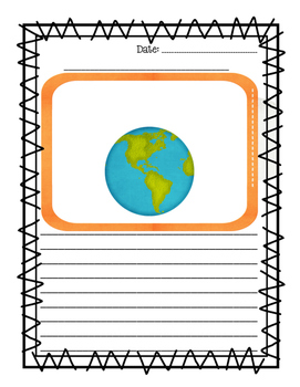 Around the World Writing Paper
