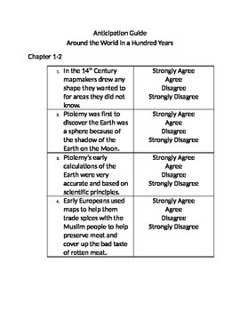 Around the World in 100 Years Pre Reading/Reading for Meaning Questions