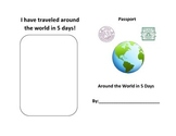 Around the World in 5 Days Passport Book