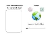 Around the World in 5 Days Passport Book