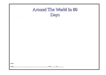Around the World in 80 Days Map by Teacher Maureen | TpT