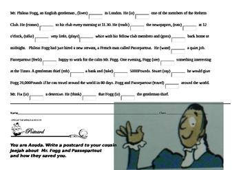 Around the World in 80 Days Post reading worksheets