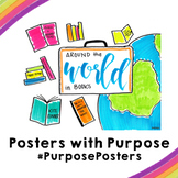 Around the World in Books | 18x24 | Posters with Purpose