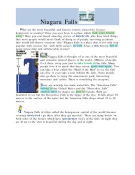 Around the World in English Unit 2: Niagara Falls