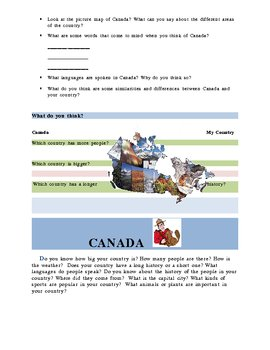 Around the World in English unit 1: Canada