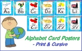 Around the World or Travel Theme Alphabet Posters (print & cursive)