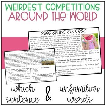 Around the World's Weirdest Competitions