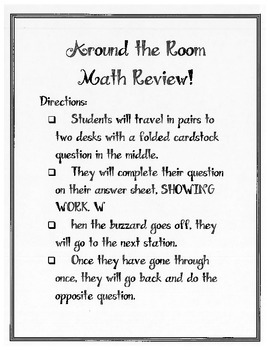 Around the room math review!