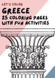 Around the world - Greece Coloring Pages and Activities