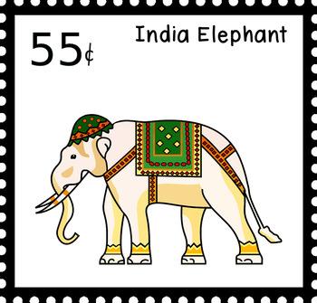 Around the world Stamp Clipart