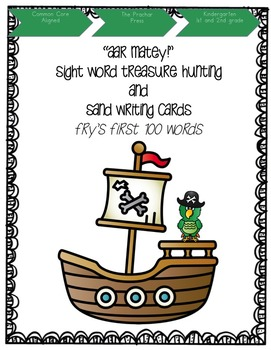 """""""Arr matey!"""" Sight Word Treasure Hunt and Sand Writing"""