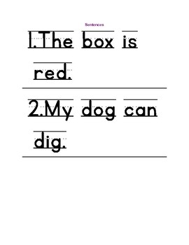 Arrange & Write Sentences