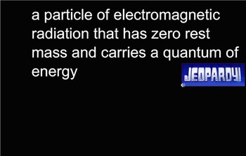 Arrangement of Electrons in Atoms Review Game, Jeopardy, High School Chemistry