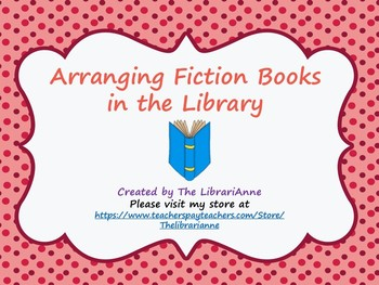 Arranging Fiction Books