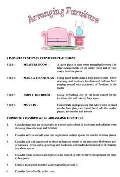 Arranging Furniture Lesson