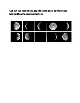 Arranging Moon Phases Cut & Paste