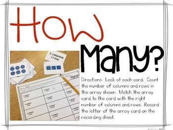 Array Activities for Beginners