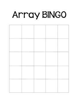 Array BINGO Game