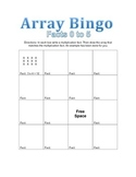 Array Bingo Facts 0 to 5