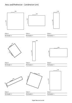 Area and Perimeter Worksheets - Meter, Millimeter, Centimeter and Inches