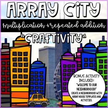 Array City Multiplication and Division Craft and Activities