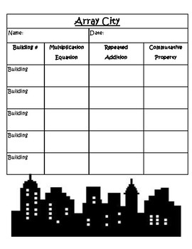 Array City Recording Sheets and Bulletin Board sign